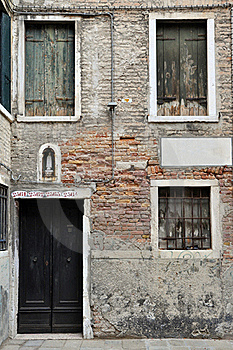 Venetian House Stock Photo - Image: 18732780