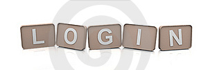 3d Text LOGIN Stock Image - Image: 18733291