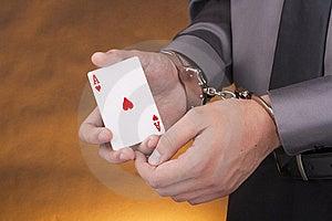 Arrest Card Sharper Stock Photos - Image: 18737323