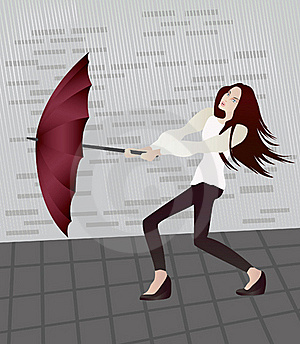 Girl With An Umbrella Stock Images - Image: 18738334