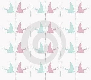 Cute Swallow Seamless Pattern Stock Photo - Image: 18738480
