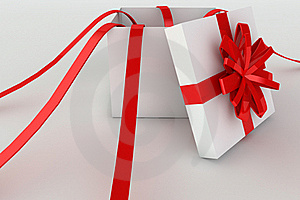 Opened Giftbox In 3d Royalty Free Stock Photos - Image: 18739018
