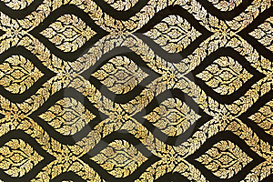 Golden Ornament Pattern Stock Photography - Image: 18739222