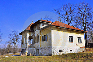 Ruined House For Sale Royalty Free Stock Photography - Image: 18742797