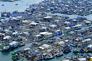 Marine Fish Farms Royalty Free Stock Photos - Image: 18743458