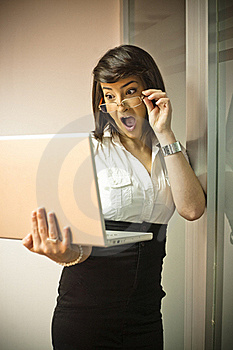 Shocked Businesswoman Royalty Free Stock Image - Image: 18743866