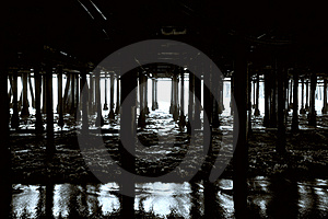 Beneath The Pier Royalty Free Stock Photos - Image: 18745338