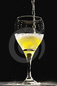 Is The Glass Half Full? Royalty Free Stock Photography - Image: 18745477