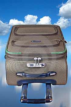Suitcase In The Sky Stock Image - Image: 18746471