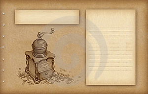 Sketch Of Coffee Grinder Royalty Free Stock Image - Image: 18746696