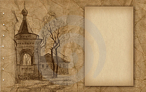 Old Paper With Sketch Royalty Free Stock Photos - Image: 18746748