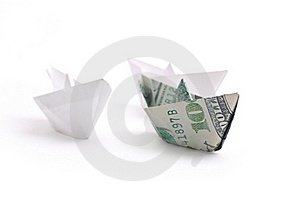 Paper Ship On White Royalty Free Stock Image - Image: 18747166