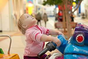 Adorable Baby Ride On Baby Motorcycle Royalty Free Stock Image - Image: 18747746