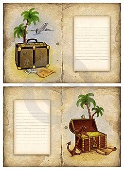 Background With Travel Illustration Royalty Free Stock Photo - Image: 18748405