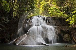 Mae-Ka-Min Waterfall Stock Image - Image: 18751601