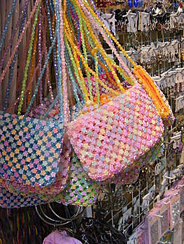 Bead Bags Royalty Free Stock Images - Image: 18753759