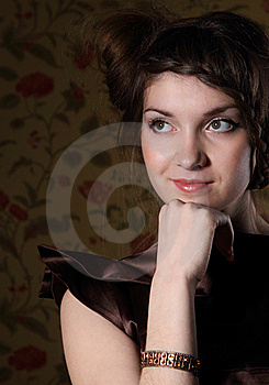 Portrait Of The Beautiful Stylish Brunette Woman Stock Images - Image: 18754464