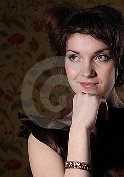 Portrait Of The Beautiful Stylish Brunette Woman Stock Images - Image: 18754464