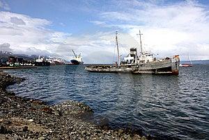 Ushuaia Harbour, Argentina Royalty Free Stock Images - Image: 18755719