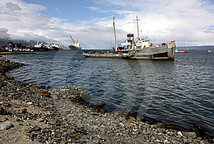 Ushuaia Harbour, Argentina Stock Photography - Image: 18755752