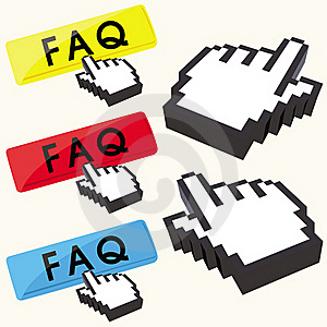 Set Of FAQ Buttons Royalty Free Stock Images - Image: 18755819