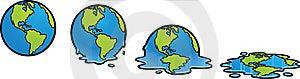 Melting Earth Stock Image - Image: 18756001
