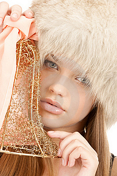 Girl With Bright Accessory Royalty Free Stock Photo - Image: 18756055