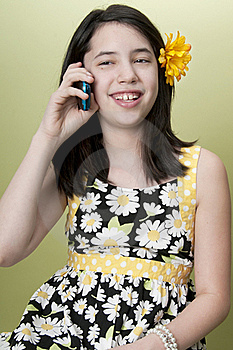 Girl On Cell Phone Royalty Free Stock Image - Image: 18757816