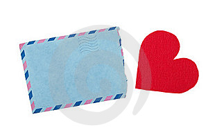 Envelope And Red Heart Royalty Free Stock Photos - Image: 18758238