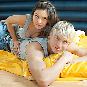 Young Couple In Bed Royalty Free Stock Images - Image: 18758809