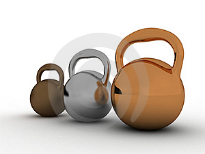 Three Weights Are Made of Bronze №3 Royalty Free Stock Image - Image: 18761286
