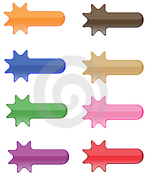 Collection Of Brightly Colored, Glossy  Elements Stock Photography - Image: 18765082