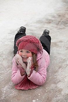 A Girl On Snow Descent Stock Photos - Image: 18769283
