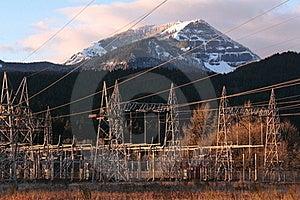 Bonneville Dam Power Line Towers, Pylons Royalty Free Stock Photo - Image: 18769435