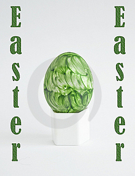 Green Easter Egg Royalty Free Stock Image - Image: 18777366