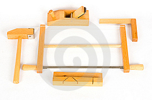 Child Joiner's Tools Royalty Free Stock Photos - Image: 18780668