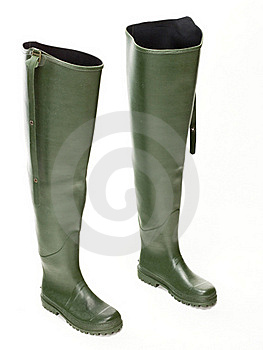 Fishing Wellingtons Stock Photography - Image: 18781312