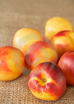Bunch Of Ripe Nectarine Peaches Royalty Free Stock Image - Image: 18784636