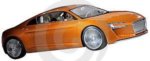 Orange Luxury Coupe Isolated Royalty Free Stock Photography - Image: 18788437