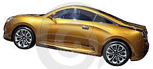 Orange Luxury Coupe Isolated Royalty Free Stock Image - Image: 18788626