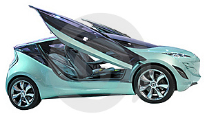Concept Coupe Isolated Stock Images - Image: 18788764