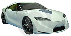 Concept Coupe Isolated Royalty Free Stock Image - Image: 18788866