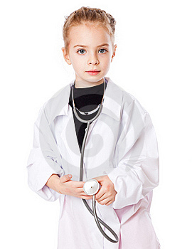 A Girl Is Dressed As Doctor Royalty Free Stock Photos - Image: 18789328