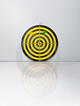 A Target With A Darts Stock Image - Image: 18789351