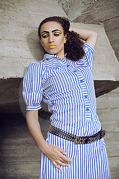 Afro Girl With Egyptian Make Up Royalty Free Stock Photo - Image: 18789685