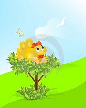 Hen With Eggs, Cdr Vector Stock Photos - Image: 18792143
