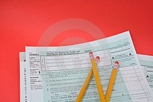 Tax Forms 1040EZ Royalty Free Stock Image - Image: 1884326