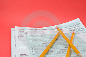 Tax Forms 1040EZ Stock Photo - Image: 1884330