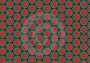 Red Poppies Circles Pattern Stock Image - Image: 1886081