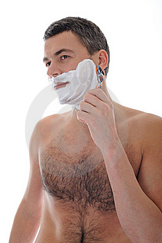 Young Handsome Male Shaving Face Beard Stock Image - Image: 18800841